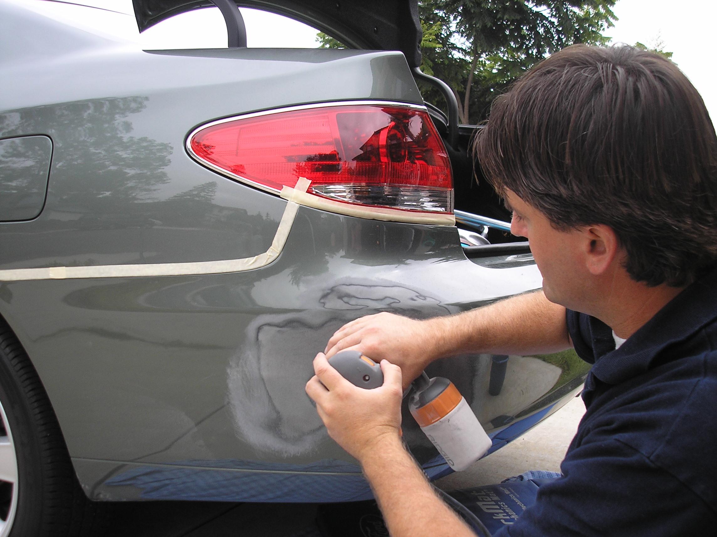 Покраска царапины авто своими руками